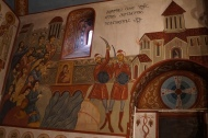 Mural of one time Tbilisi was conquered and destroyed