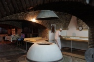 inside old traditional bakery